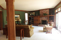 Family Room Before Remodel Brecksville Ohio